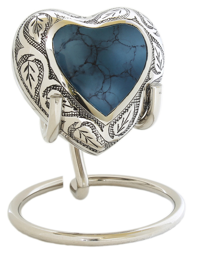 Blue Clouded Heart