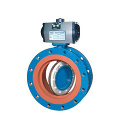 Off Set Disc Double Flange Butter Fly Valve