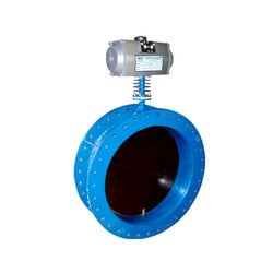 Double Flange Damper Valve With Rotary Actuator