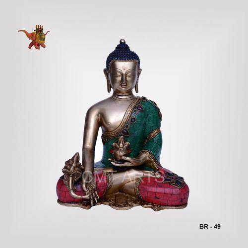 Brass Stone Buddha