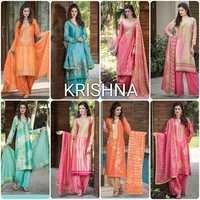 Krishna Chanderi Embriodary Suit