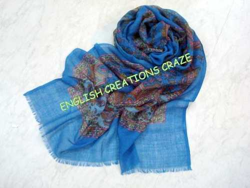Wool Acrylic Print Scarves
