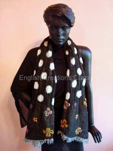 Wool And Acrylic Printed  Scarves