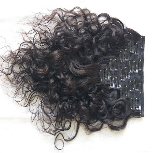 Indian Curly Clip On Hair Extensions