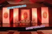 Leather Tufted Wedding Backdrop Panel Stage