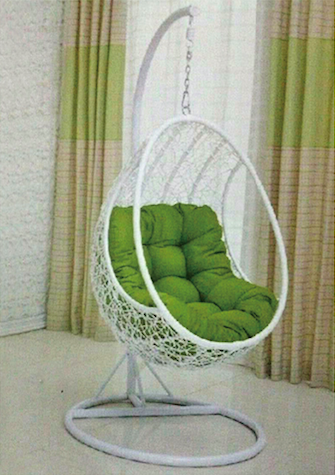 Hanging Chair With Stand & Cushions