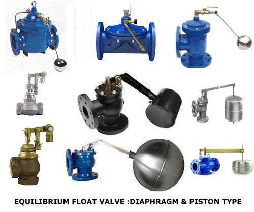 equilibrium float valves