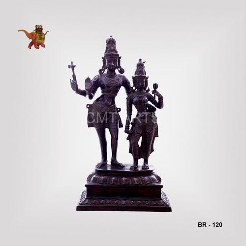 Brass Vishnu laxmi