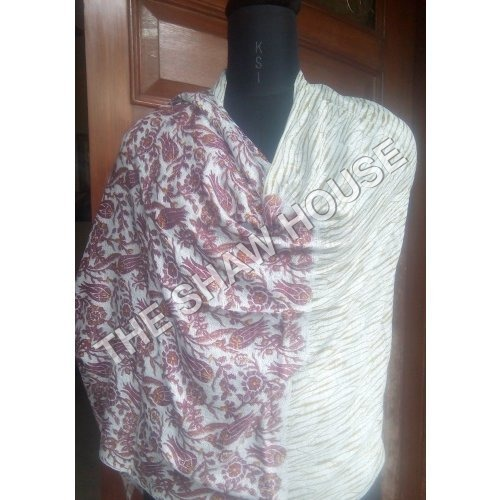 Wool Modal Printed Stole