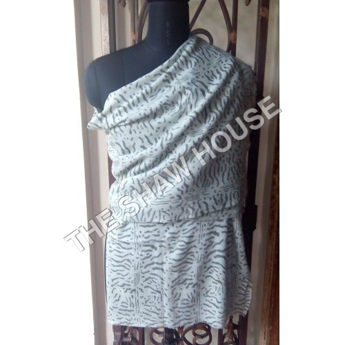 Wool Silk Printed Stole
