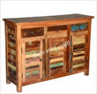 RECLAIMED WOOD 3 DRAWERS CHEST