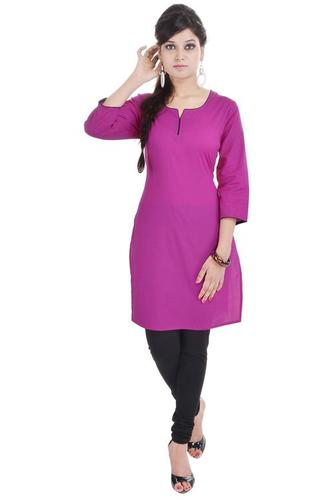 Plain  Kurti Cotton