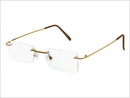 Square Eyewear Rimless Gold Frame