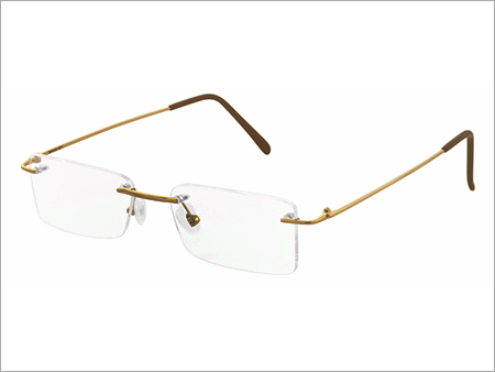 Square Eyewear Rimless Gold Frame