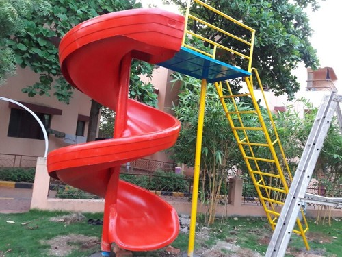 Spiral slide with Ladder