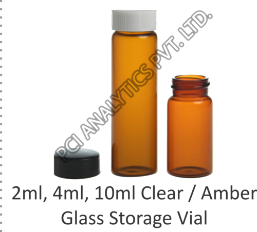 Amber Glass Storage Vial
