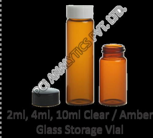 Amber Glass Storage Vial