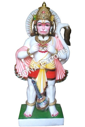 Makrana Marble Hanuman with Ram Sita