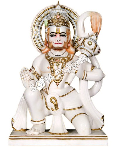 White Marble Hanuman Idols Pratima