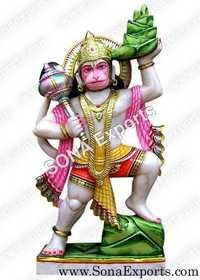 Marble Veer Hanuman Murti Statue