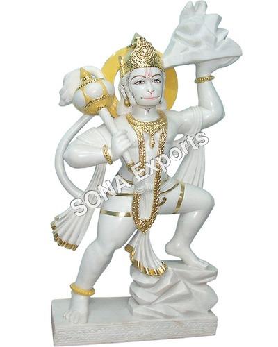 White Marble Hanuman Statue