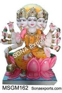Marble Goddess Gayatri Mata Statue Murti