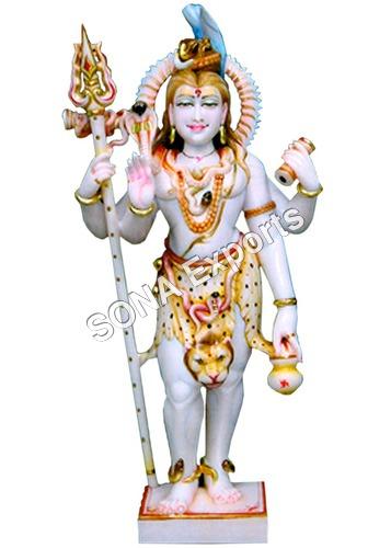 Marble Shiva Standing Statue