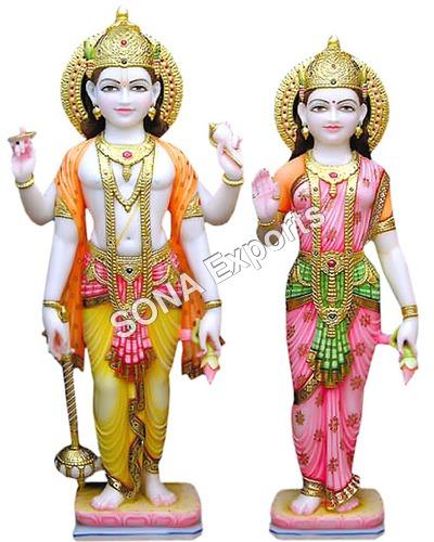 Marble Vishnu Bhagwan Statue