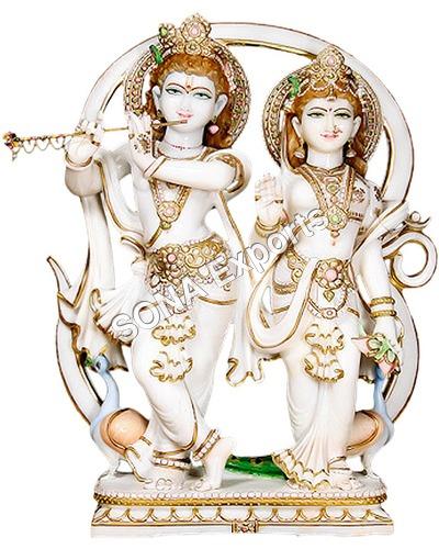 Marble Radha Krishna Sculpture