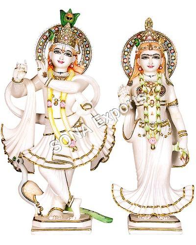 Radha Krishna Statue From Makrana Marble