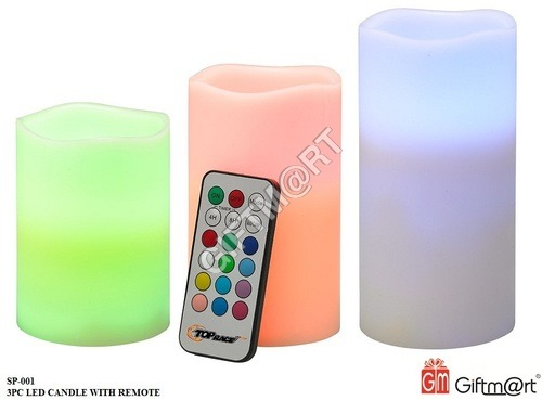 3PC Led Candle With Remote