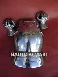 Medieval Warrior Breastplate Curriass Armor With Gauntlets