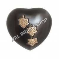 Slat Falling Leaf Heart Keepsake