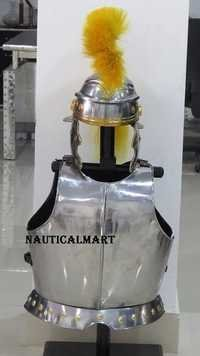 Medival Knight Armor Breastplate With Centurion Helmet