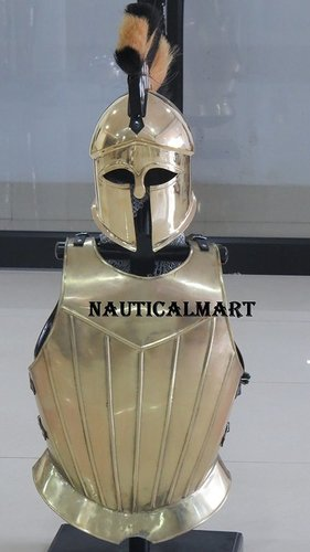 Medival Armor Gothic Breastplate With Corinttain Helmet