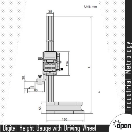 Digital Height Gauge with Driving Wheel