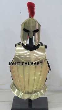 Medieval Knight Armor Breastplate With Spartan Helmet