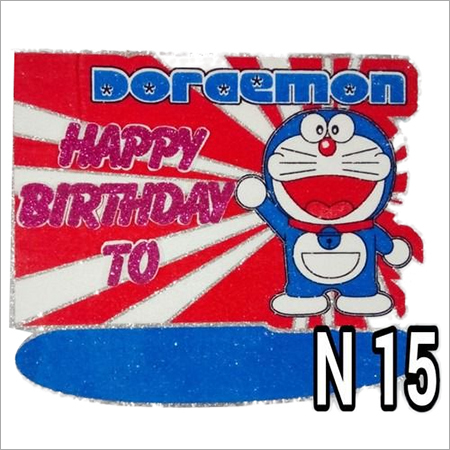 Thermocol Doremon Birthday Plate