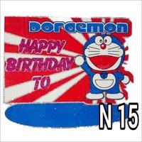 Thermocol Doremon Birthday Plate