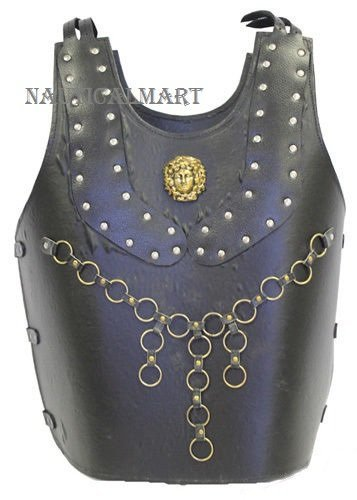 Greek Leather Breastplate Brass Studded Armor Costume