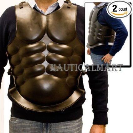 Full Size Armor Trojan Dark Brown Roman Breastplate Cuirass