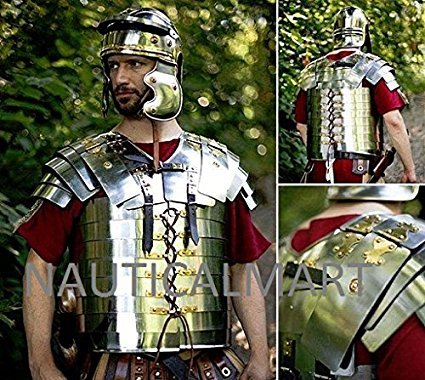 Medieval Lorica Segmentata Roman Legionnaires Medieval Armor Breastplate
