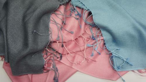 Coloured Silk Pashmina Shawls