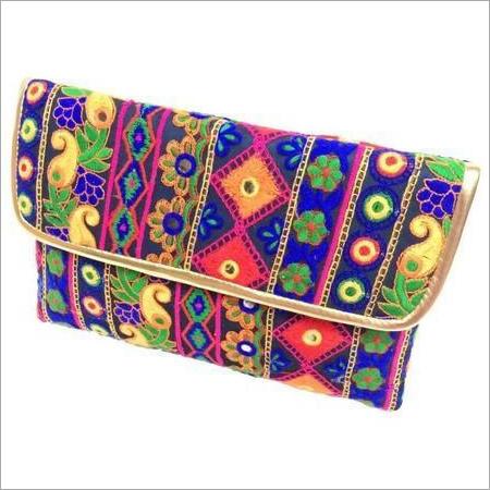 Handmade Embroidered Clutch Bag