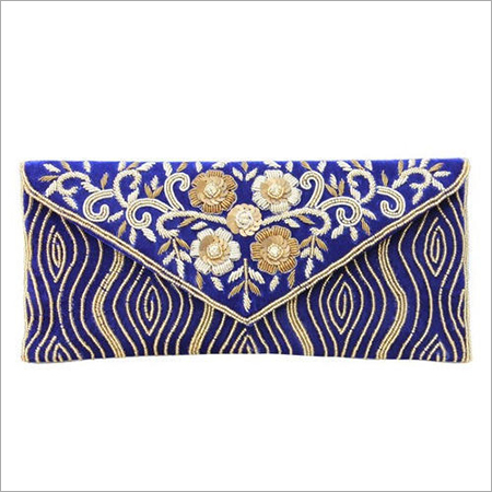Traditional Gotta Patti Box Clutch with Sling