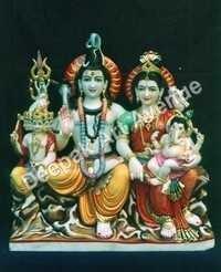 Shiva Parivar Marble Statue