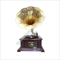 Antique Brass Handmade Gramophone Decorative