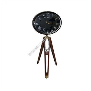 Vintage Clock With Tripod