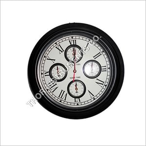Wooden Wall Clock World Time Home Decorative
