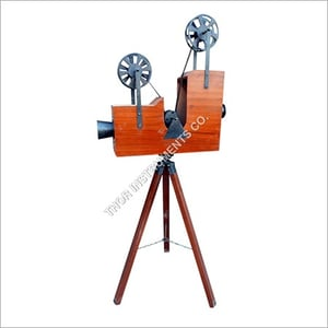 Vintage Brown Projector With Stand